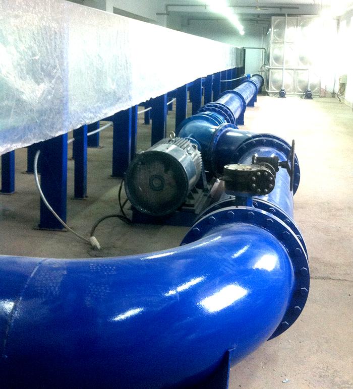 污染物运移水动力模拟水槽造流系统